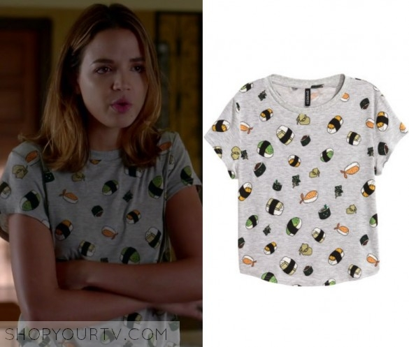 Famous in Love: Season 1 Episode 4 Cassie's Grey Sushi Tee