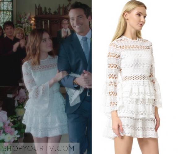 Pretty Little Liars Season 7 Episode 20 Aria S White Lace Dress