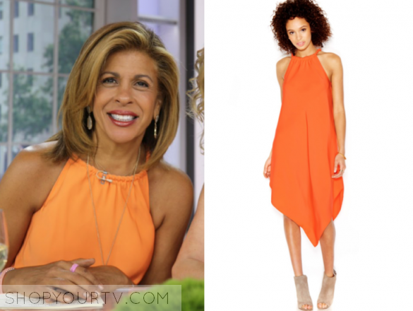 rachel roy orange halter dress