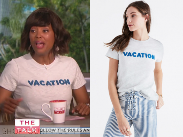 madewell EMBROIDERED VACATION TEE