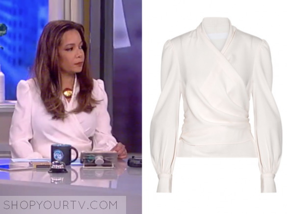 CO - CREPE WRAP BLOUSE - IVORY