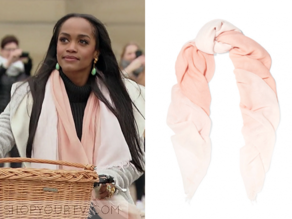 CHAN LUU - OMBRÉ CASHMERE AND SILK-BLEND SCARF - PINK