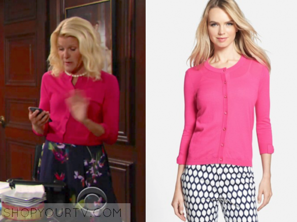 The Bold And The Beautiful July 2017 Pams Hot Pink Cardigan