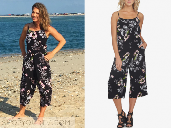 1.STATE FLORAL-PRINT GAUCHO JUMPSUIT