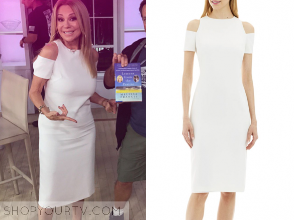 NICOLE MILLER NEW YORK COLD-SHOULDER BODYCON DRESS