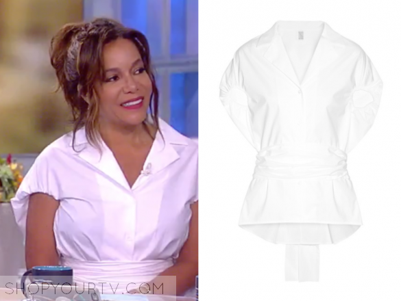 ROSIE ASSOULIN - HAVE THE WIND AT YOUR BACK COTTON-POPLIN SHIRT - WHITE