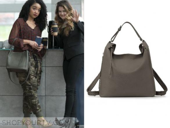 6b35bd4c1a The Bold Type  Season 1 Episode 3 Kat s Grey Leather Bag