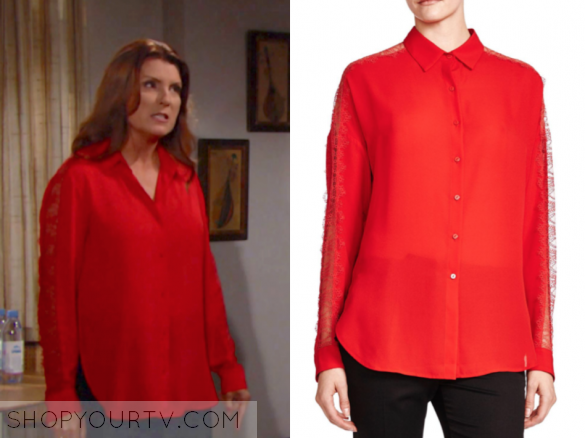 The Kooples red lace shirt