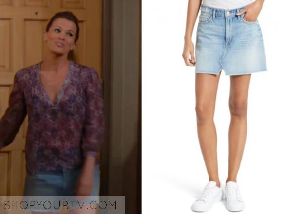FRAME Denim Le Mini Skirt Split Front