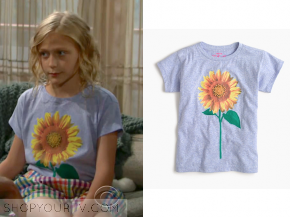 j.crew Girls' sunflower T-shirt