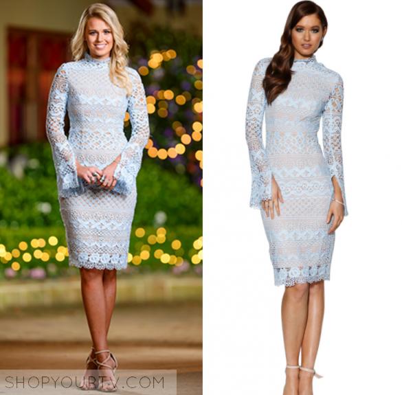 The Bachelor Au Season 5 Episode 11 Lisa S Blue Lace Dress