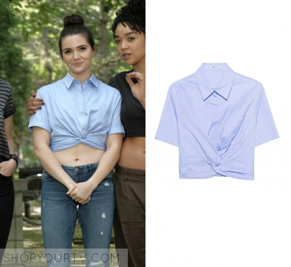 4c1940a8f764e The Bold Type  Season 1 Episode 6 Jane s Chambray Twist Front Top ...