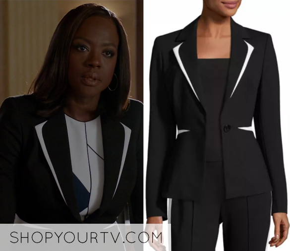 How to get away with murder fashion clothes style and wardrobe how to get away with murder season 4 episode 1 annalises colorblock blazer ccuart Gallery