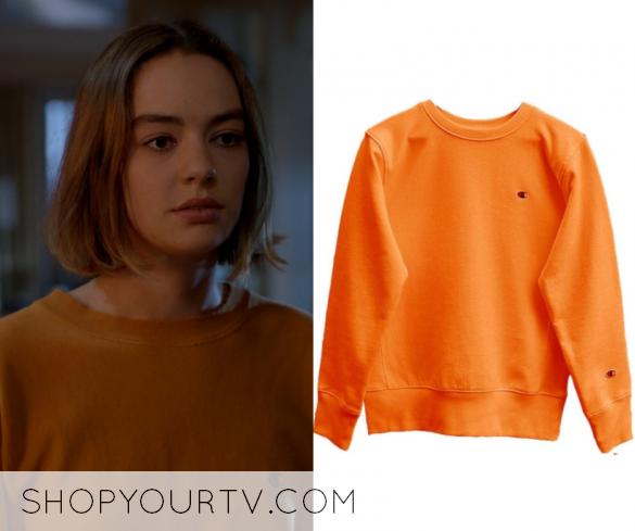 Atypical  Season 1 Episode 8 Casey s Orange Crew Neck Sweater f51e5d642