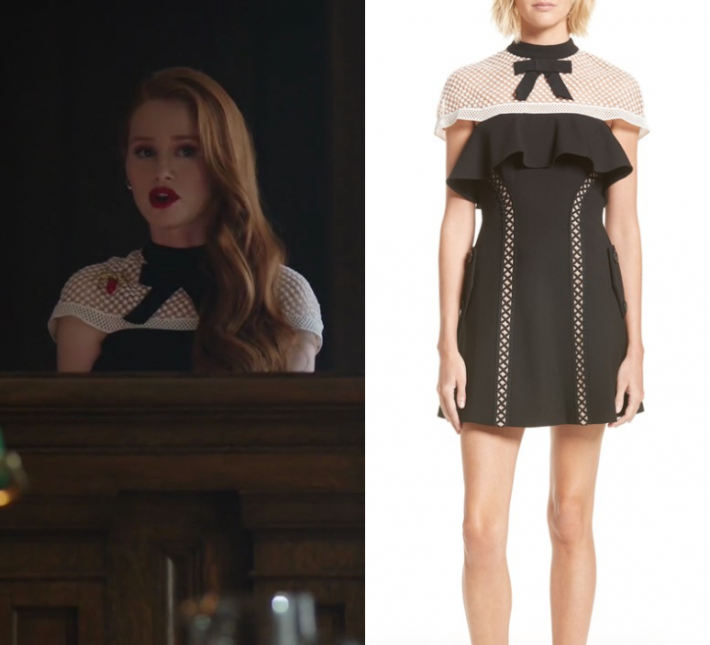 Shop Your TV Riverdale Season 2 Episode 2 Cherylu2019s Black and White Lace Dress