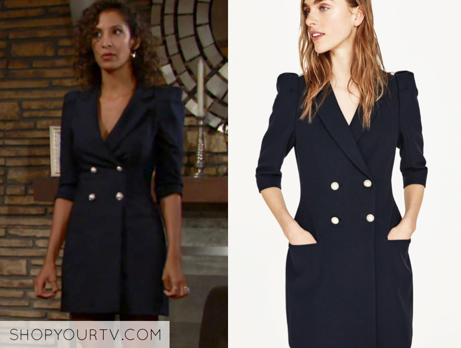 zara double breasted blazer dress