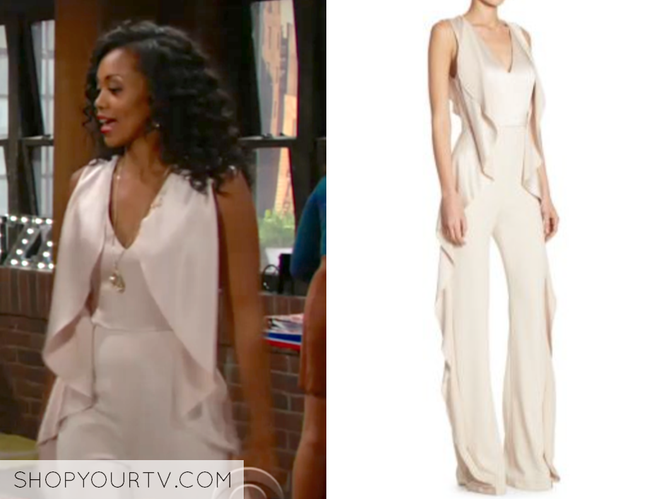 alice + olivia Sarandon Side Ruffle Jumpsuit