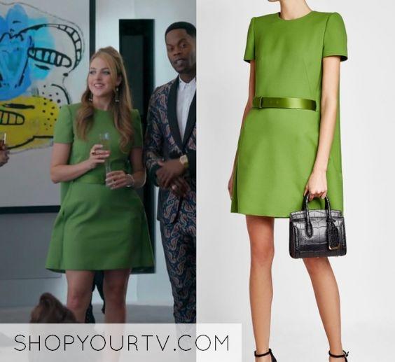 Dynasty Season 1 Episode 6 Fallon S Green Mini Dress Shop Your Tv