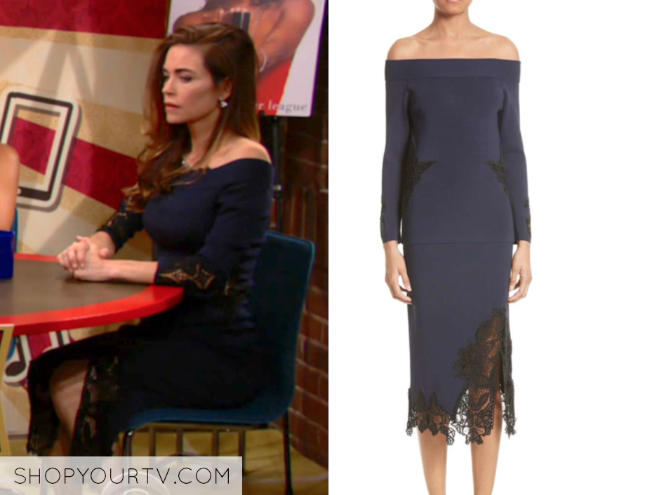 Jonathan Simkhai Lace Applique Knit top and skirt