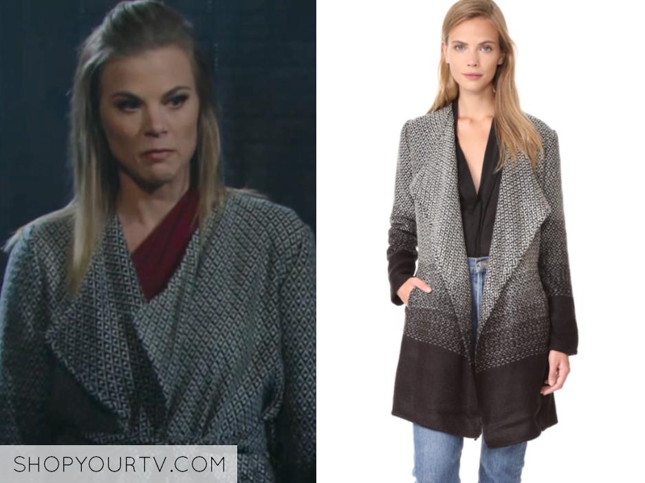 Bb Dakota Myles Ombre Blanket Coat