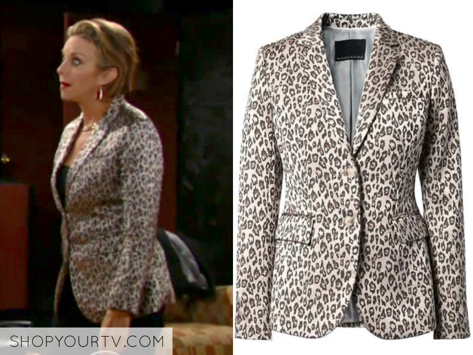 Banana Republic Long and Lean-Fit Leopard-Print Blazer