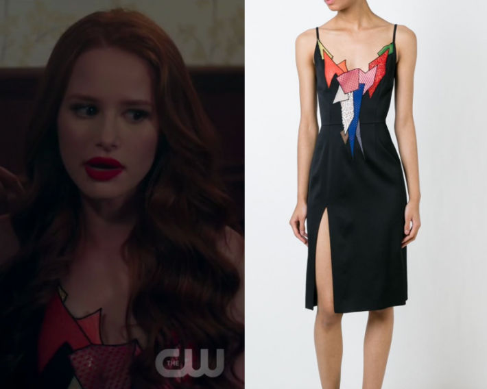 Shop Your TV Riverdale Season 2 Episode 5 Cherylu2019s Patchwork Neck Dress