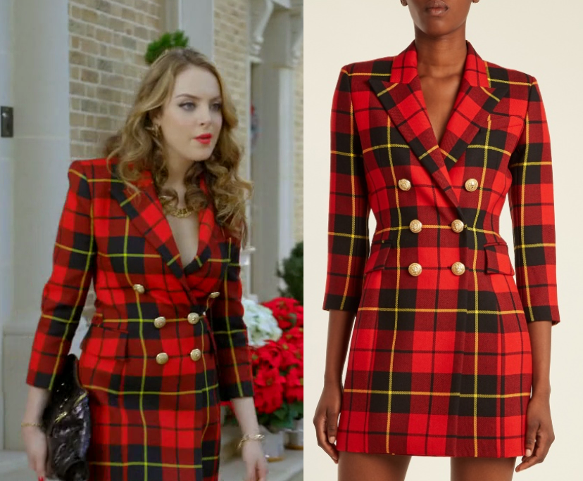 Dynasty Season 1 Episode 9 Fallon S Red Suit Dress Shop Your Tv