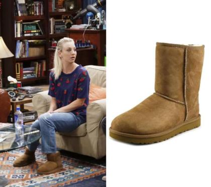 The Big Bang Theory: Season 11 Episode 10 Penny's Tan Ugg Boots