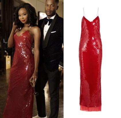 Dynasty Season 1 Episode 12 Monica S Red Sequin Dress Shop Your Tv