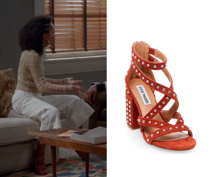 Black-ish: Season 3 Episode 23 Zoey's Orange Studded Heels