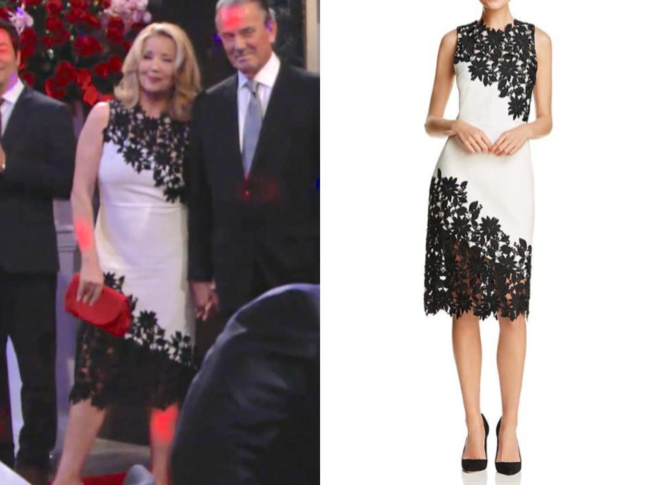 Alice + Olivia Margy Appliquéd Sheath Dress