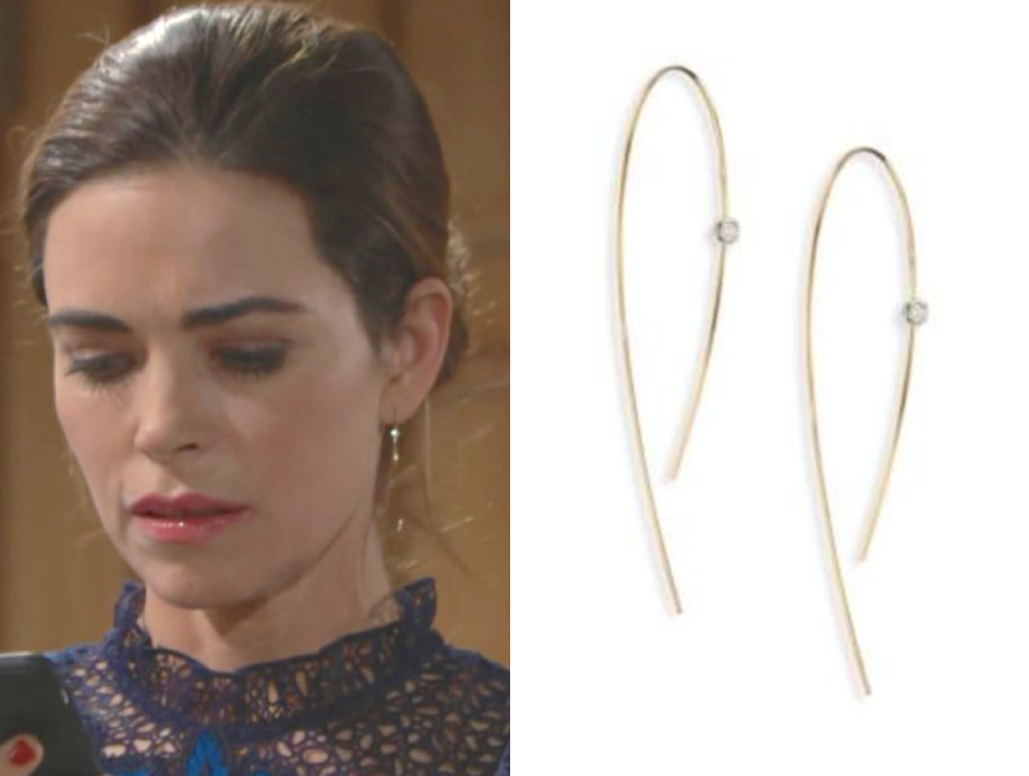 LANA JEWELRY Hooked On Hoop Diamond & 14K Yellow Gold Earrings