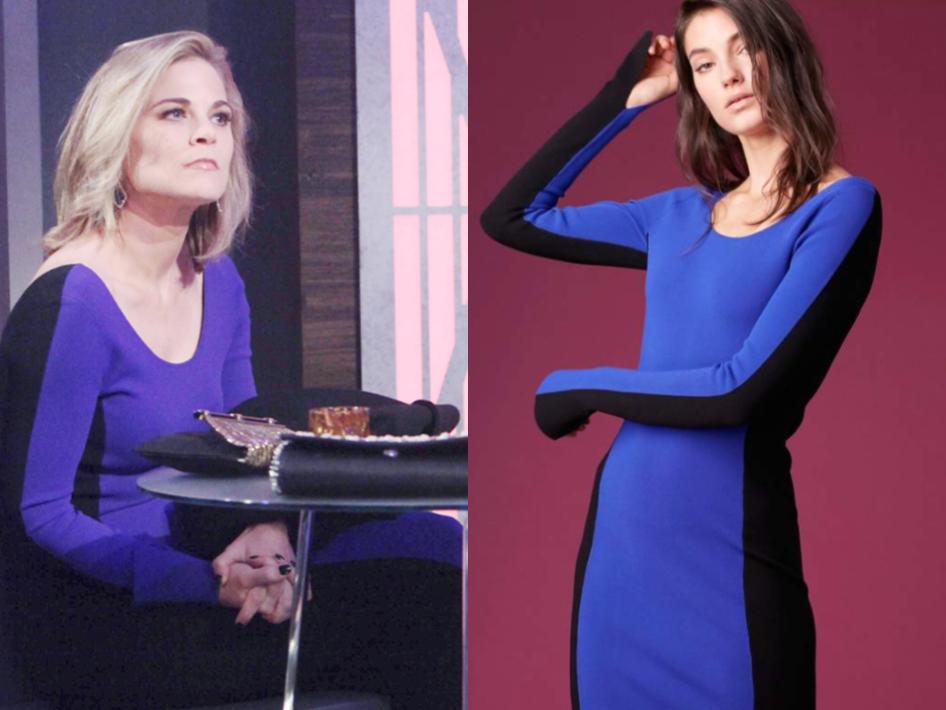Diane Von Furstenberg Long-Sleeve Fitted Knit Dress