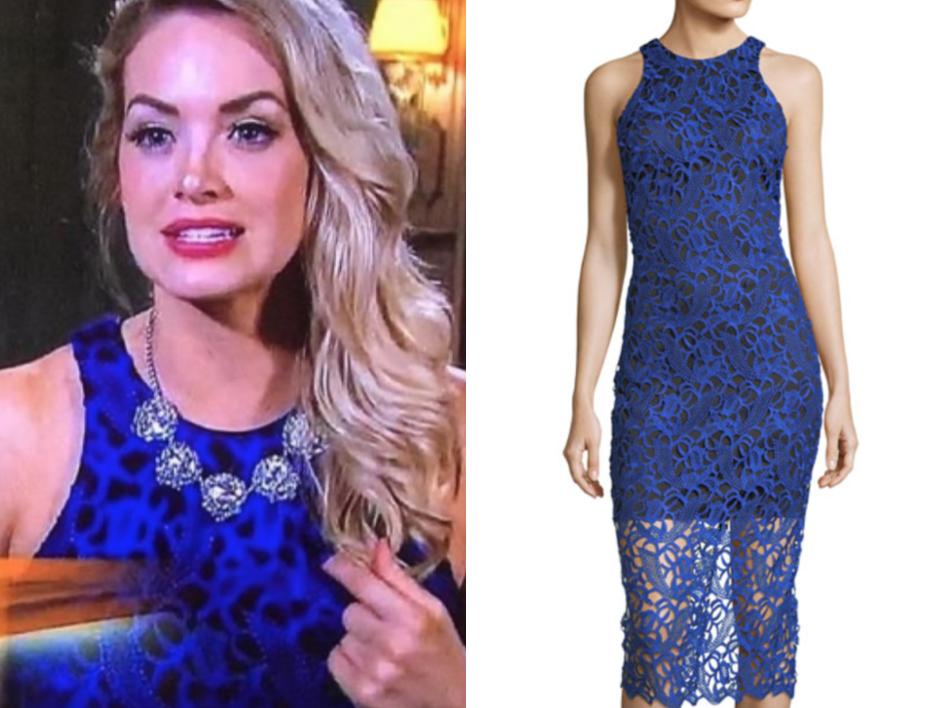 Alexia Admor Lace Overlay Midi Dress