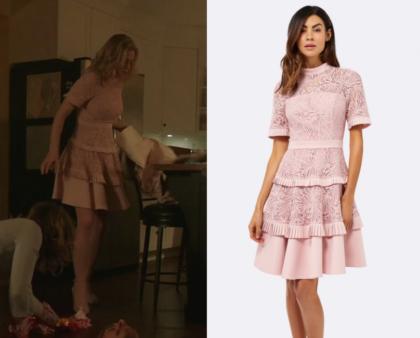 Riverdale Season 2 Episode 13 Betty S Pink Lace Dress Shop Your Tv