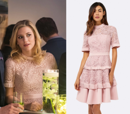 Riverdale Season 2 Episode 12 Betty S Pink Ruffled Tiered Pleated
