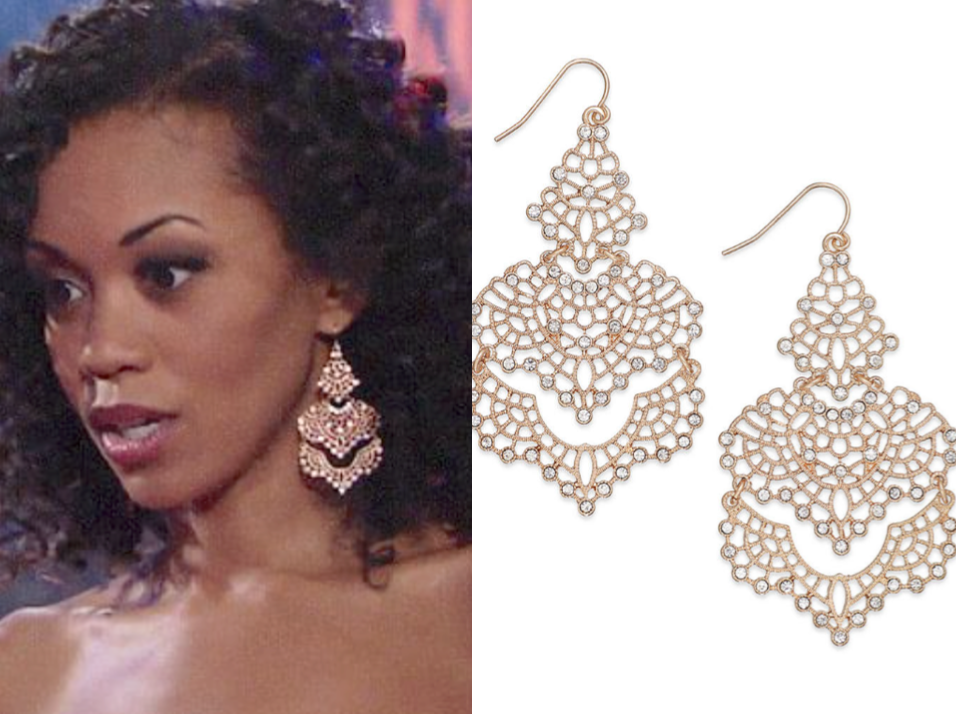 I.n.c. Crystal Lace Chandelier Earrings