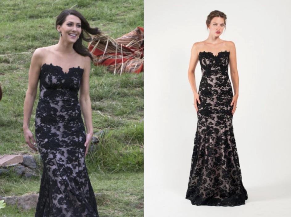 olvi's black lace gown, 2768