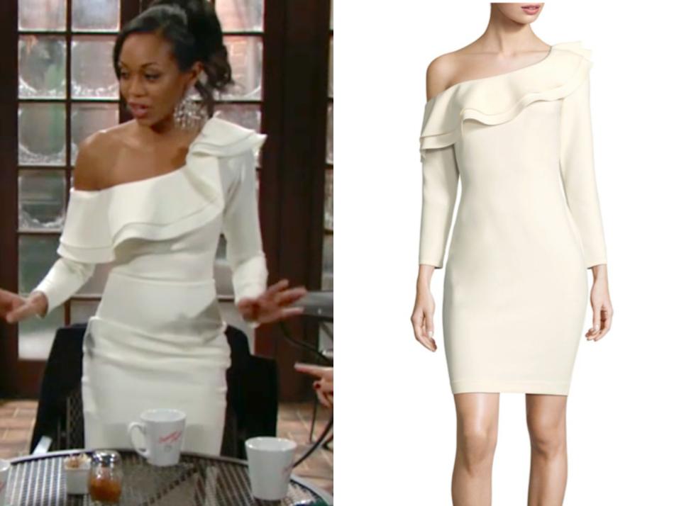 LIKELY Georgina Ruffled One-Shoulder Dress