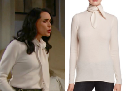 C by Bloomingdale's Cashmere Tie-Neck Sweater