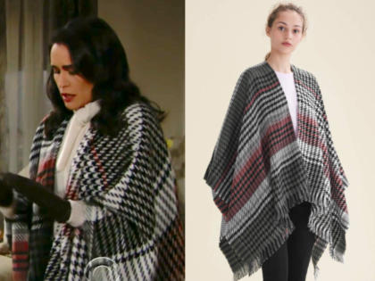 Maje Multi-coloured houndstooth poncho