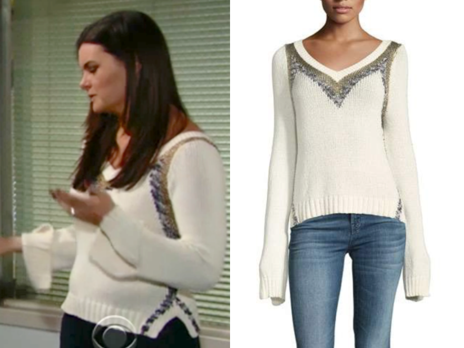 Derek Lam 10 Crosby V-Neck Pullover Sweater