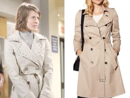 Karen Millen Studded Collar Trench Coat