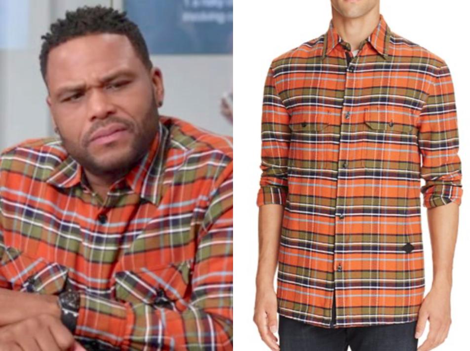 rag & bone Hudson Carhartt Plaid Regular Fit Regular Fit Button-Down Shirt