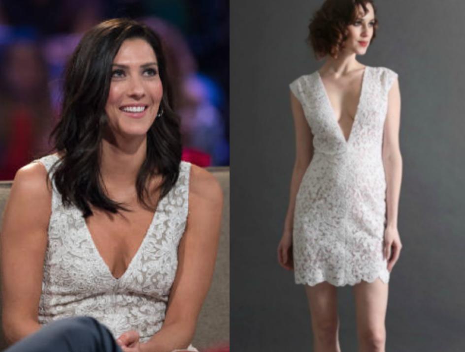 randi rahm white lace mini dress