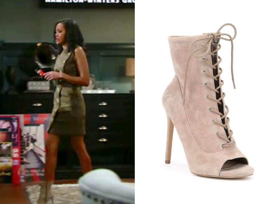 Steve Madden Saint Lace-Up Bootie, hilary curtis, the young and the restless, mishael morgan