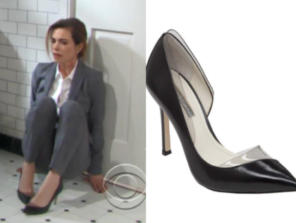 BCBGeneration Tricky - Black/Smoke Clear Kid Shoes, the young and the restless, victoria newman, amelia heinle