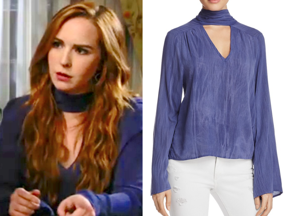 Vintage Havana Textured Choker Top, the young and the restless, mariah copeland, camryn grimes