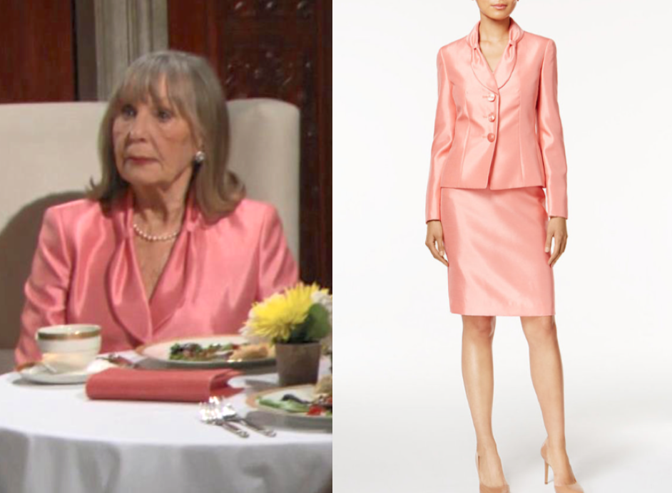 Le Suit Shimmer Skirt Suit, the young and the restless, dina mergeron, marla adams