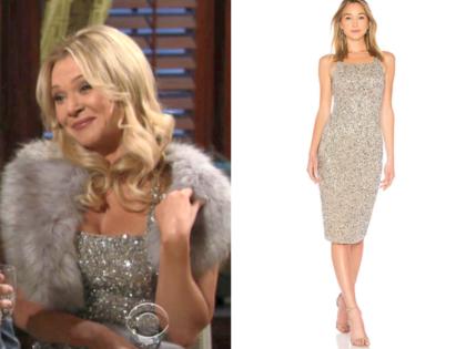 Parker Black Sage dress, the young and the restless, brittany, lauren woodland